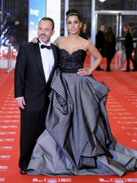 Javier Gutierrez and Emma Cuesta at the Goya Awards 2011.