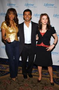 Vivica A. Fox, Mark Consuelos and Caterina Scorson at the Lifetime Television's Upfront event.