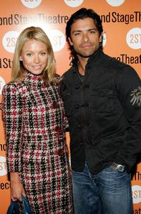Kelly Ripa and Mark Consuelos at the play opening night of