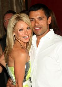 Kelly Ripa and Mark Consuelos at the party to celebrate Kelly Ripa's Hamptons magazine cover.