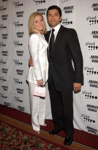 Kelly Ripa and Mark Consuelos at the 13th annual GLAAD Media Awards.