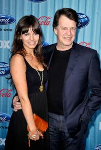 Samantha Noble and John Noble at the American Idol Top 12 party.