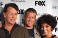 John Noble, Mark Valley and Jasika Nicole at the premiere of
