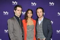 Sam Witwer, Meaghan and Sam Huntington at the Syfy 2012 Upfront Event in New York.