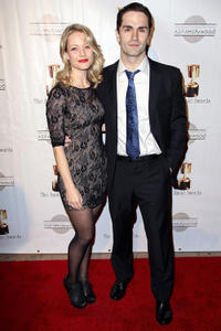 Sam Witwer and Guest at the 40th Annual Annie Awards in California.