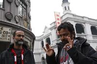 Producer Rohan Sippy and Director Nikhil Advani on the set of