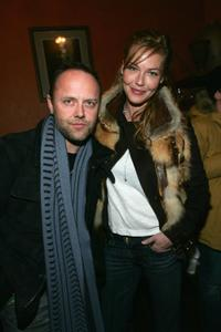 Lars Ulrich and Connie Nielsen at the IFC party during the 2005 Sundance Film Festival.