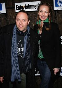 Lars Ulrich and Connie Nielsen at the Entertainment Weekly's Winter Wonderland Sundance Bash.