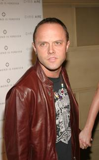 Lars Ulrich at the Chris Aire show during the Olympus Fashion Week Spring 2005.