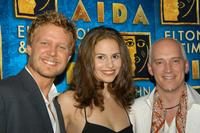 Will Chase, Mandy Gonzalez and Donnie Kehr at the after party for recording artist Toni Braxton's debut in the Broadway musical Aida.