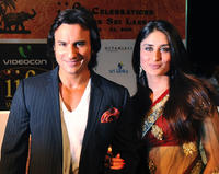Saif Ali Khan and Kareena Kapoor at the International Indian Film Academy (IIFA) awards in Colombo.