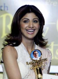 Shilpa Shetty at the 10th Rajiv Gandhi Award's.