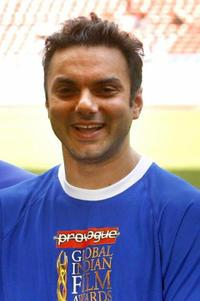 Sohail Khan at the celebrity football match.