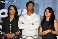 Sameera Reddy, Sunil Shetty and Bhagyashree Patwardhan at the promotional event for