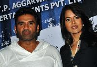 Sunil Shetty and Sameera Reddy at the promotional event for