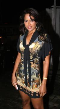 Sameera Reddy at the party in honour of the crew of Kanchivaram in Mumbai.