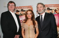 Garrison Keillor, Lindsay Lohan and Kevin Kline at the premiere of
