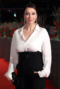 Ursula Strauss at the premiere of
