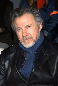 Harvey Keitel at the Imitation of Christ Fall/Winter 2003 Collection during the Mercedes-Benz Fashion Week.