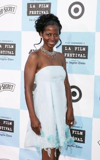 Elle Downs at the Los Angeles Film Festival opening night screening of
