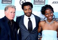 Martin Sheen, Chiwetel Ejiofor and Elle Downs at the Los Angeles Film Festival opening night screening of