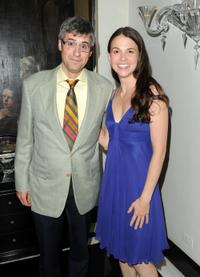 Mo Rocca and Sutton Foster at the opening night of
