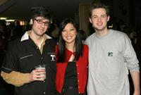 Mo Rocca, Suchin Pak and Damien Fahey at the Make A Wish Foundation's Bowling For Wishes Event.