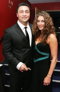 Rene Naufahu and Justine Naufahu at the Air New Zealand Screen Awards.