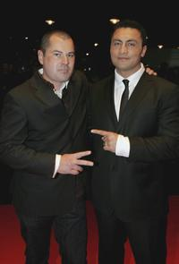 Toa Fraser and Rene Naufahu at the Air New Zealand Gala Screening of