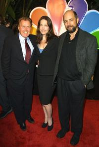 Sheila Kelley, Martin Sheen and Richard Schiff at the NBC's 75th anniversary all-star reception.