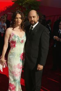 Sheila Kelley and Richard Schiff at the 54th Annual Primetime Emmy Awards.