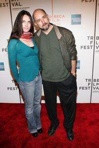 Sheila Kelley and Richard Schiff at the premiere of