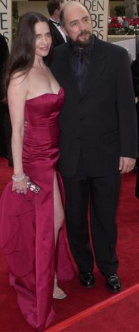 Sheila Kelley and Richard Schiff at the 58th Annual Golden Globe Awards.