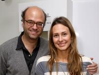 Scott Adsit and Jessica Makinson at the Luxury Lounge in honor of 2008 SAG Awards.