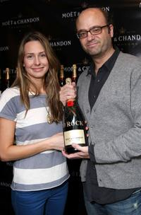 Jessica Makinson and Scott Adsit at the Luxury Lounge in honor of 2008 SAG Awards.