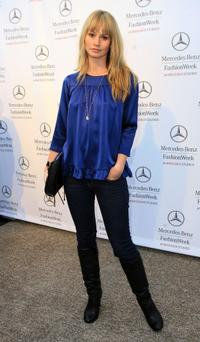 Cameron Richardson at the Mercedes Benz Fashion Week.