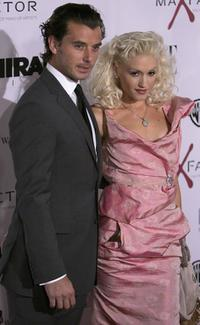 Gavin Rossdale and his wife Gwen Stefani at the premiere of