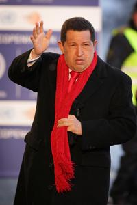 Hugo Chavez at the Final day of the UN Climate Change Conference.
