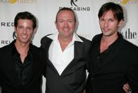 Philipp Karner, director C. Jay Cox and James O'Shea at the premiere of
