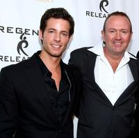 Philipp Karner and director C. Jay Cox at the premiere of