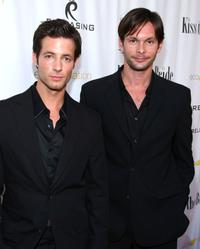 Philipp Karner and James O'Shea at the premiere of