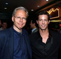 Stephen Macias and Philipp Karner at the premiere of