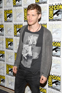 Joseph Morgan at the press line of
