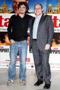 Riccardo Scamarcio and Carlo Verdone at the photocall of