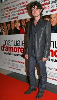 Riccardo Scamarcio at the premiere of