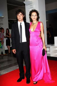 Riccardo Scamarcio and Valeria Golino at the Official Dinner during the 65th Venice Film Festival.
