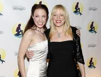 Sierra Boggess and Sherie Rene Scott at the after party of the opening night of Broadway's