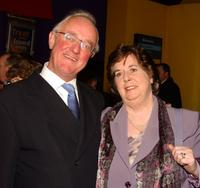 Frank Kelly and his wife at the premiere of