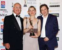 Frank Kelly, Anne-Marie Duff and Ardal O'Hanlon at the Irish Film and Television Awards.