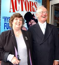 Frank Kelly and wife at the world premiere of